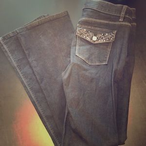 WHBM SIZE 4 BLK JEANS